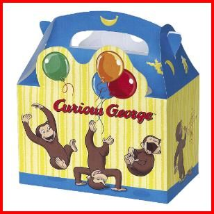 Curious George Treat Boxes, $3.49 Cdn pkg/4. http://www.allthatstuff.net/George/curious-george-party-supplies.html