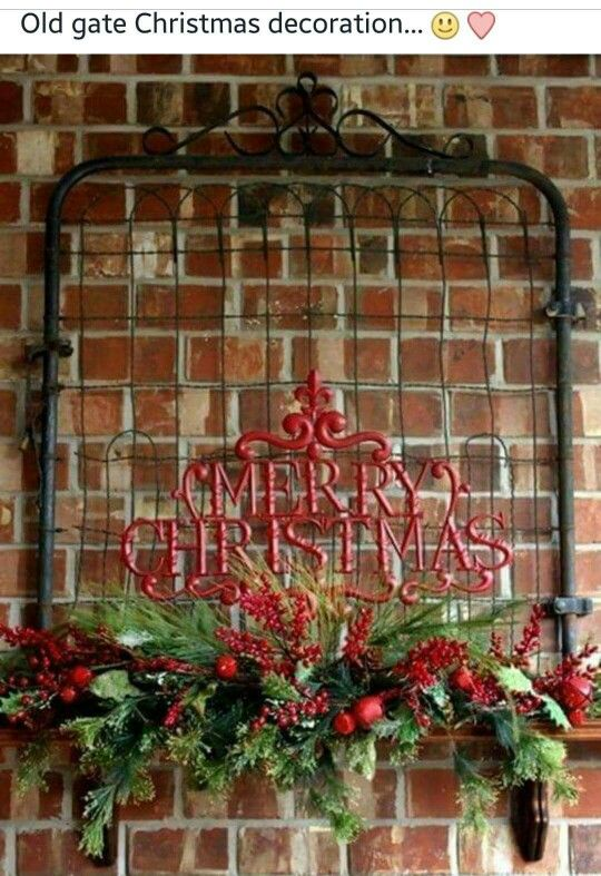 Old Gate Christmas Decorations