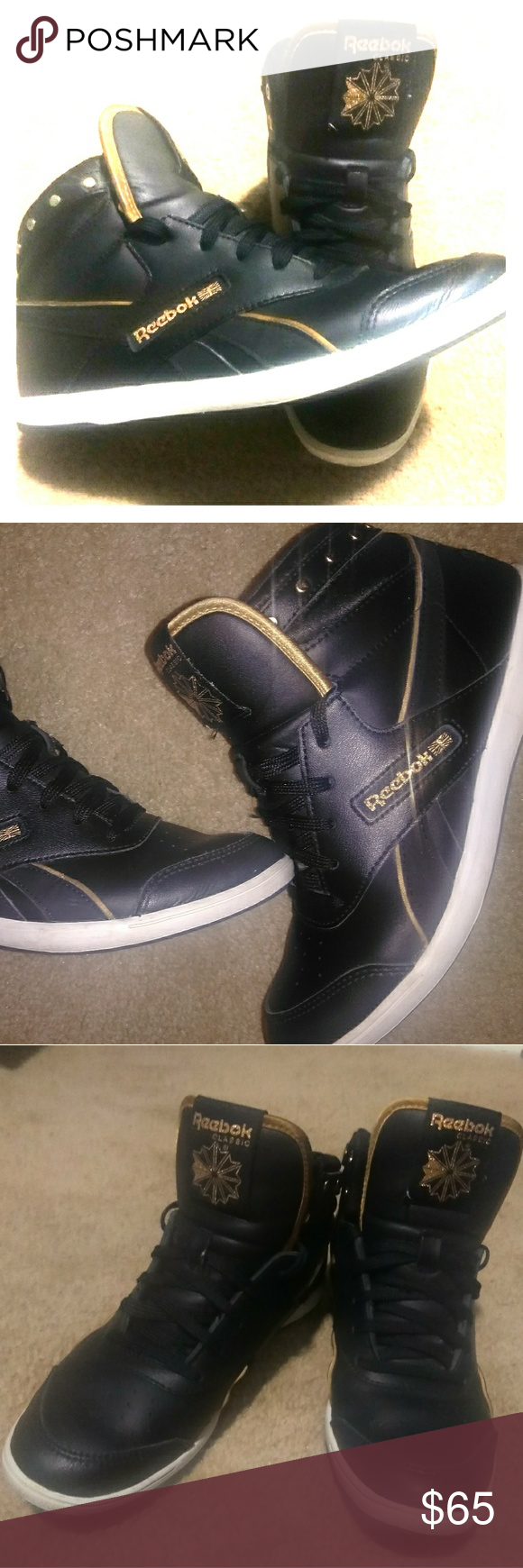 REEBOK CLASSIC KICKIN  IT OLD SKOOL HIGHTOPS! USED LIGHTLY. EXCELLENT  CONDITION. PLEASE d03fd34c4