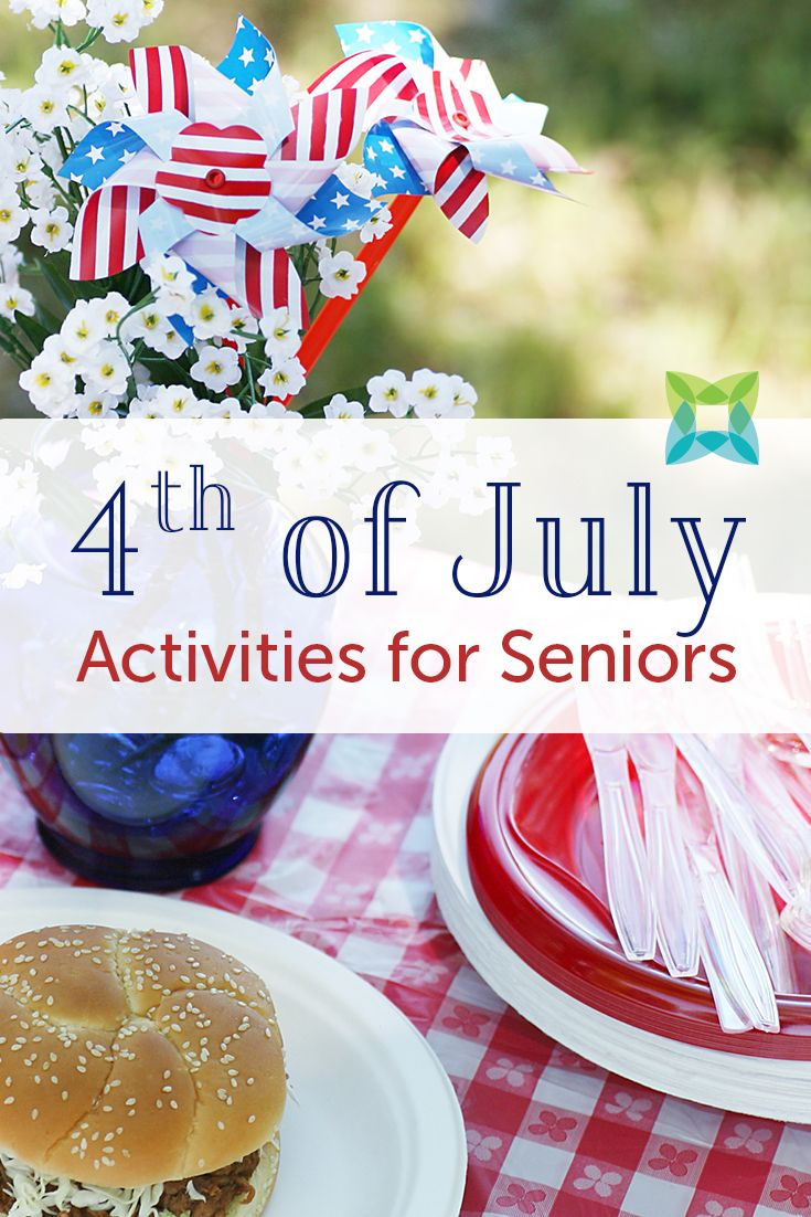 4th of July Activities & Crafts for Seniors Crafts for