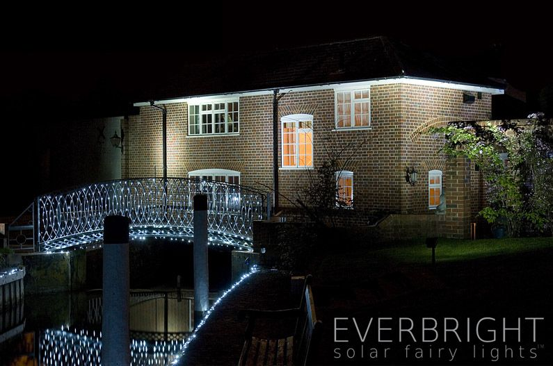 Everbright Solar Fairy Lights White 100 Leds Night Solar Lights