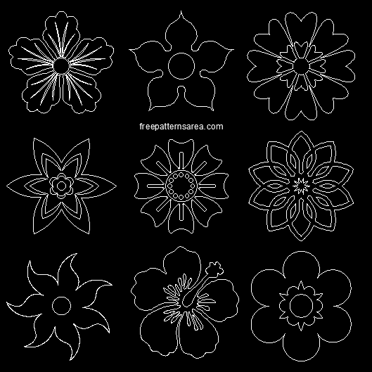 Types Of Flower Arrangement Shapes: Free Flower Vectors & Printable Shapes File Download
