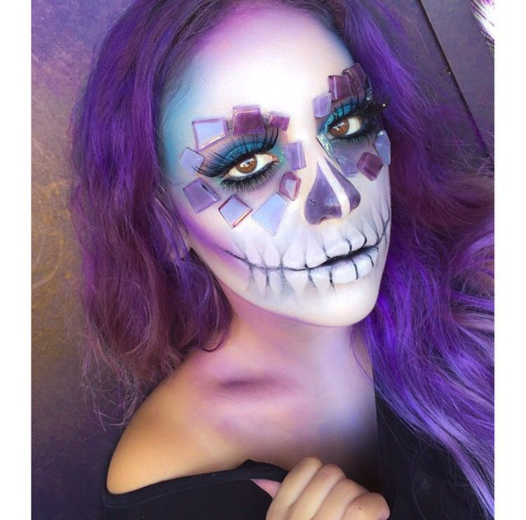 Skull candy dia de Los muertos makeup