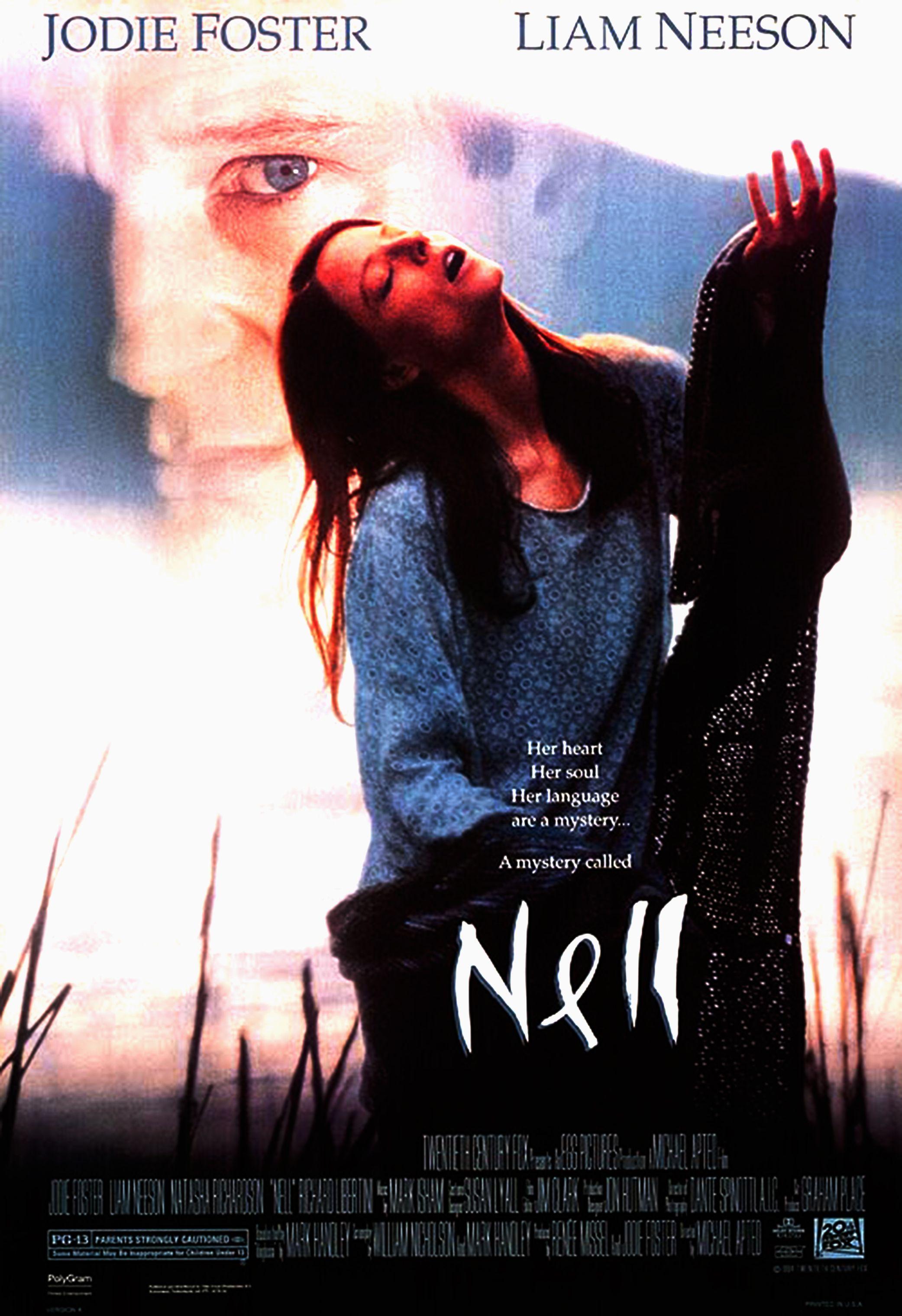 Poster Do Filme Nell 1994 Estrelado Por Jodiefoster E Liamneeson Posteres De Filmes Cartazes De Filmes Liam Neeson