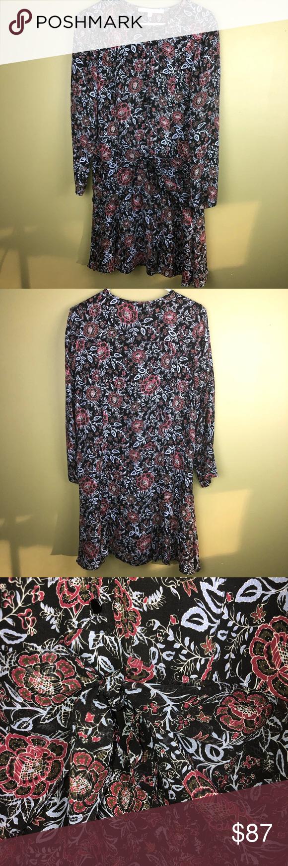Veronica Beard Drop Tie Waist Silk Dress Size 12 In 2020 Silk Dress Diy Wedding Dress Patterns Silk Midi Dress [ 1740 x 580 Pixel ]
