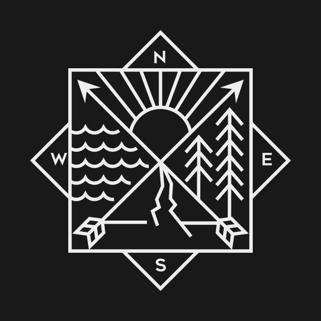 Nature Compass - Compass - T-Shirt | TeePublic