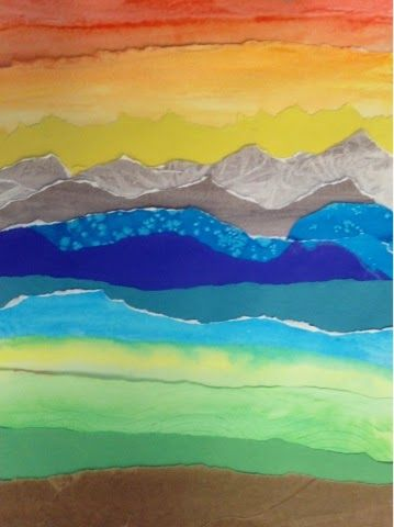 Watercolor Landscape Collages Middle School Art Projects School