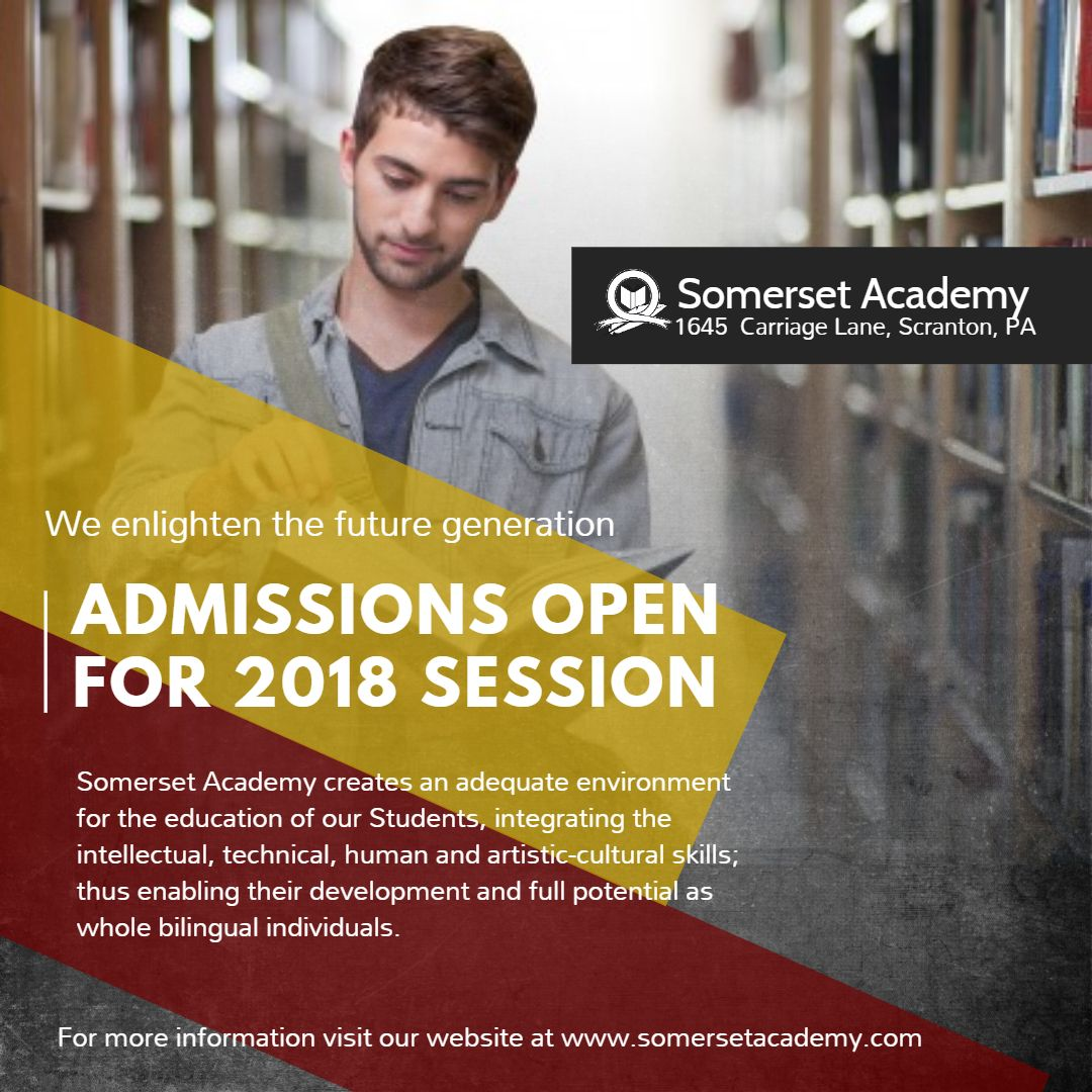 Academy and college admission open session ad for ...