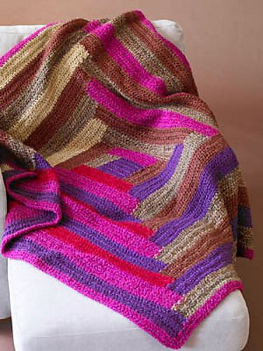 Log Cabin Afghan #60641 pattern by Lion Brand Yarn | Häkeltante ...