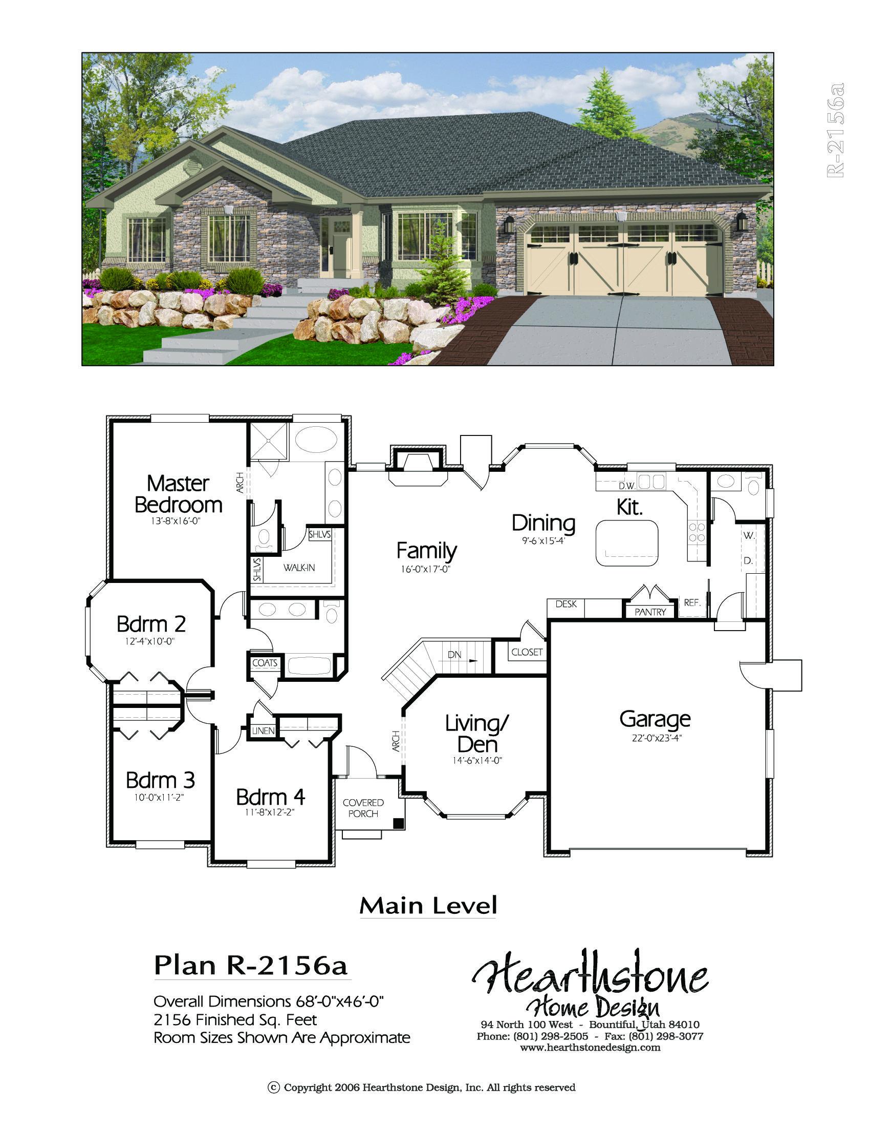 R 2156a Hearthstone Home Design New House Plans Modern House Floor Plans House Blueprints