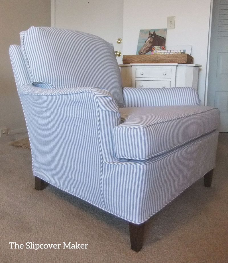 Ticking Stripe Slipcover For Old Drexel Chair Striped