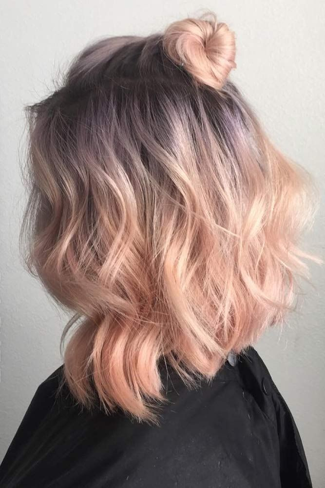 27 Pretty Shoulder Length Hair Styles Pastel Hair Color