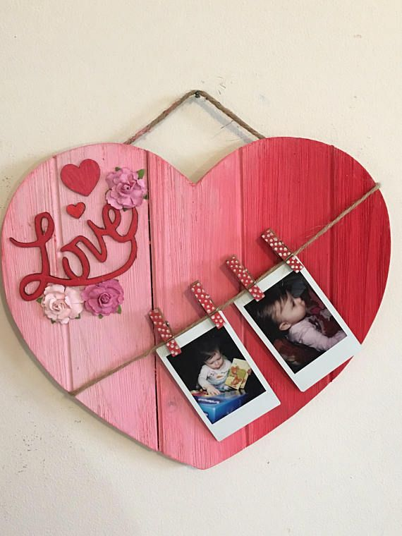 Heart Pallet Frame Valentine S Day Heart Shaped Frame Romantic Gift
