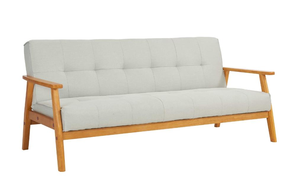 Schlafsofa Skandinavischer Look Hellgrau Ausklappbar Schlafcouch Holz Sit Vintage Optik 60er In 2020 Schlafsofa Sofa Sofa Turkis