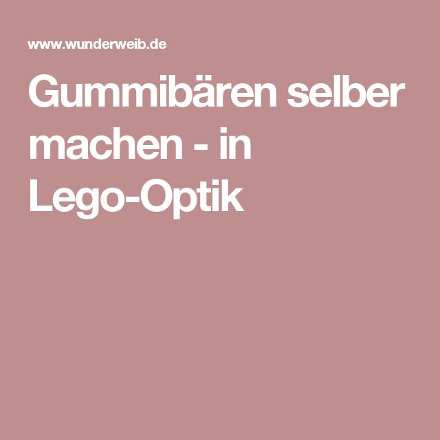 Gummibären selber machen - in Lego-Optik