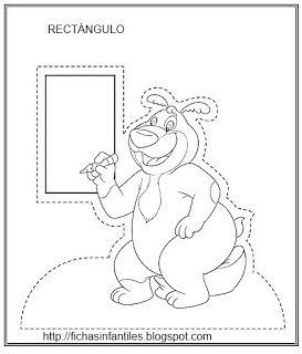 Fichas Infantiles Rectángulo Para Colorear Dibujos Pinterest