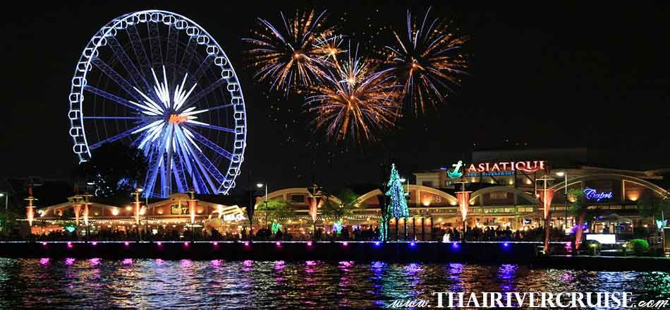 Sparking Firework New Year EVE Bangkok at Asiatique The