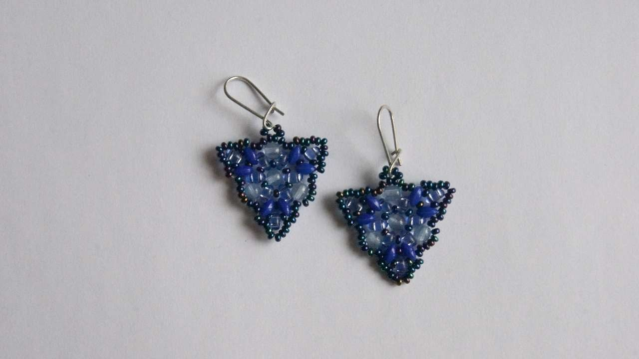 How To Make Triangular Earrings - DIY Style Tutorial - Guidecentral