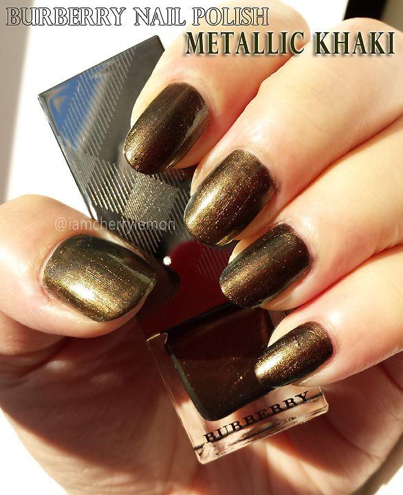 Burberry Nail Polish in Metallic Khaki #BurberryBeauty | Nailed It ...