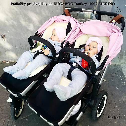 Bugaboo Donkey Twin podložky pre dvojičky 100% MERINO na mieru