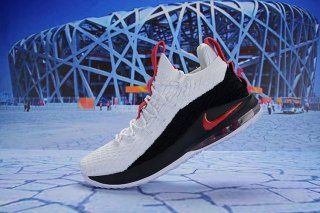 e3386c78e0db Nike LeBron 15 Low White Black Red AO1755 045 Men s Basketball Shoes James  Shoes
