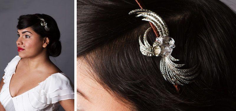 vintage bridal headband