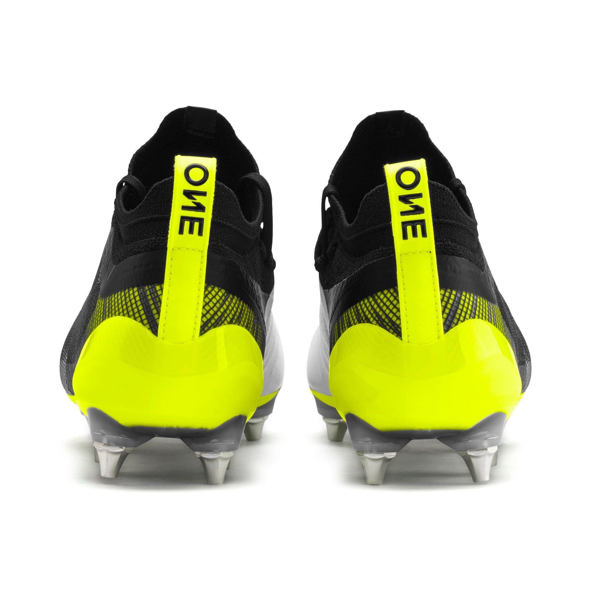 PUMA One 51 Mxsg Football Boots in WhiteBlackYellow Alert size 105 PUMA One 51 Mxsg Football Boots in WhiteBlackYellow Alert size 105 PUMA One 51 Mxsg Football Boots in W...