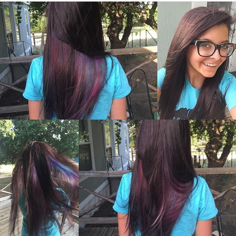 Long straight hair. Oil slick with deep brown color | Hair ...