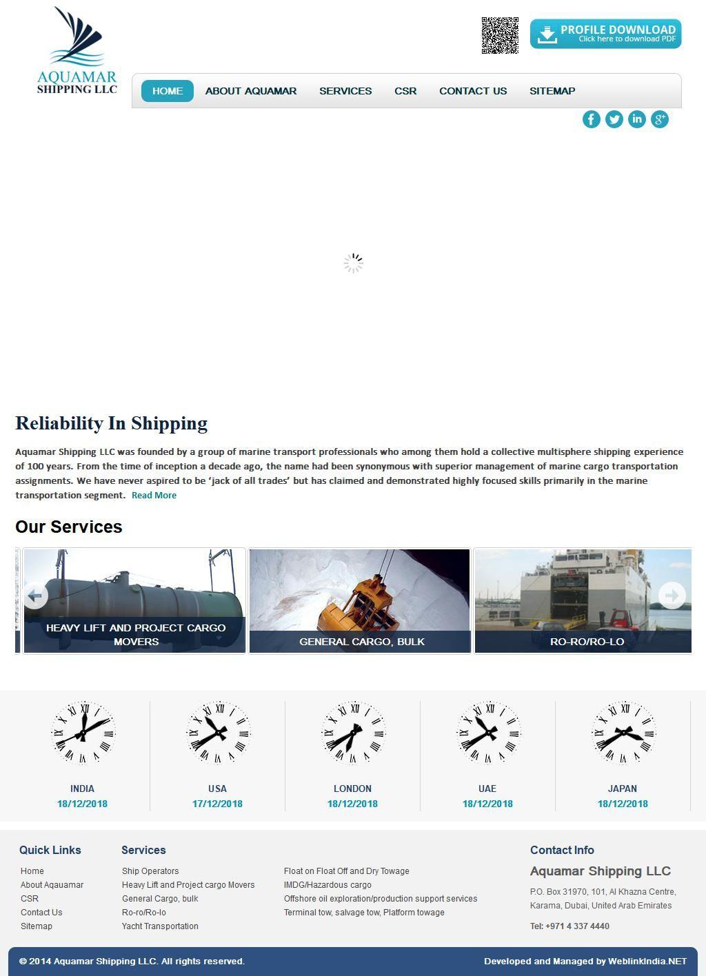 Aquamar Shipping, Llc Al Khazna Center, 35, 27b Street 1