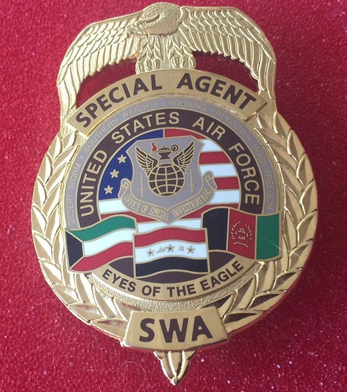 Special Agent US Air Force Police badge, Fire badge