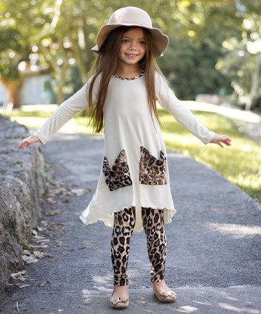 Look What I Found On Zulily White Amp Leopard Kylie Tunic