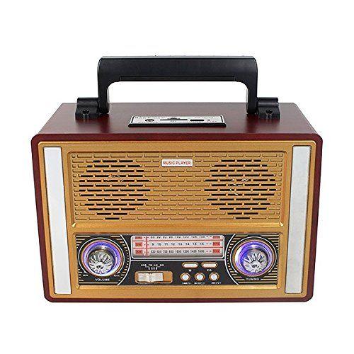 Vintage Radio Retro Receiver Speaker Fm Am Sw Table Desktop Wooden Multiband Best