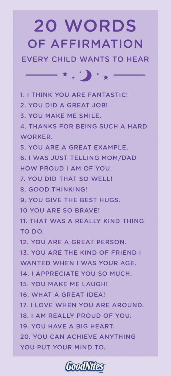 Photo of 20 words of affirmation for children