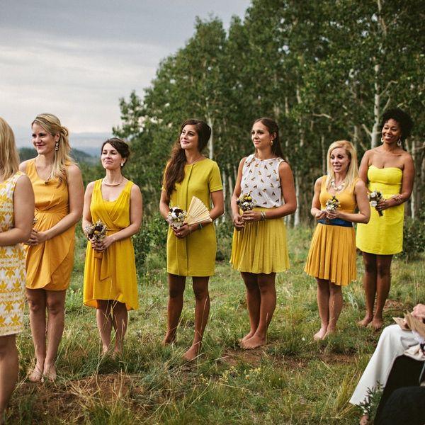 Light grey dress with yellow