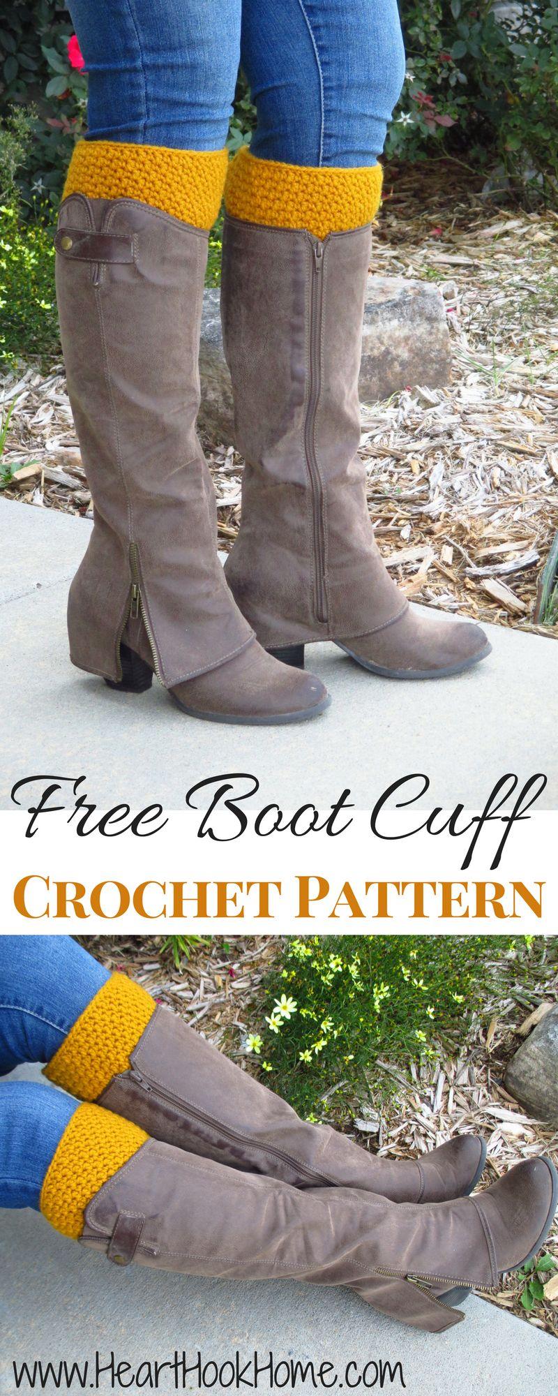 30+ Inspired Image of Crochet Boot Cuffs Pattern Free - vanessaharding.com #bootcuffs