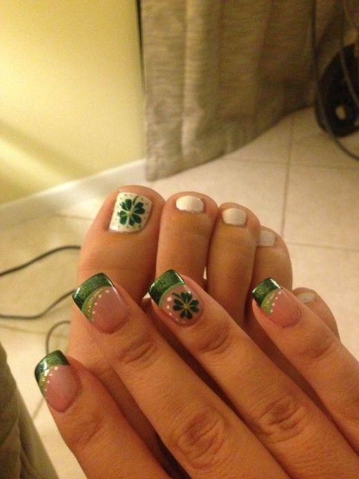 Saint Patrick\'s Day Nail Designs | Vanidades y Puros