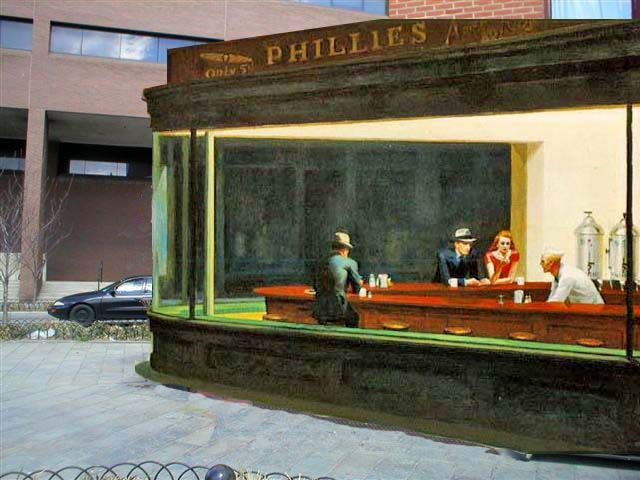 Nighthawks By Edward Hopper Most Probable Painting Location Popspots Edward Hopper Art Institute Of Chicago American Painting