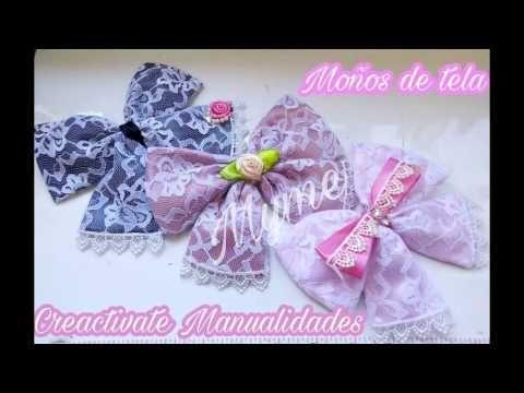4 estilos de par de moños para nenas edad preescolar VIDEO No. 436 creaciones rosa isela - YouTube