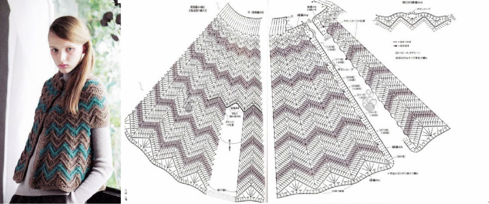 Patron Crochet Capa - Patrones Crochet | Ponchos, Capas a Crochet ...