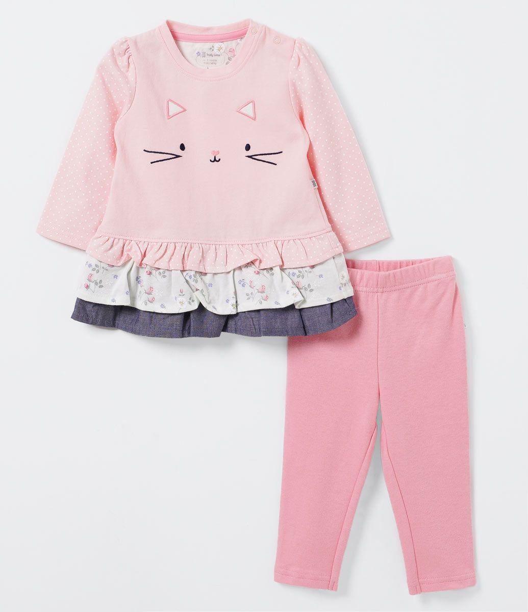 3D New Trend ENES-TOPRAK 2er Set Dress Baby T-Shirt Long Sleeve Sweatshirt und Hose im 3D Druck Design Fr/ühling Sommer M/ädchen Jungen bis Gr/ö/ße 80