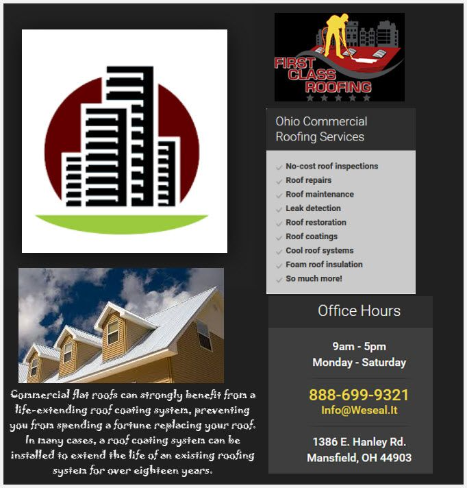 Pin By Firstclassroofing On Commercial Roofing Contractors Ohio Roof Restoration Commercial Roofing Roofing Services