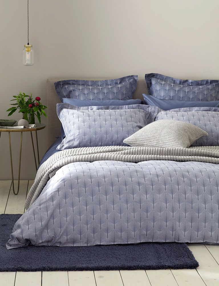 Soft And Soothing Shades Of Blue In Our Topiary Cotton Bedding