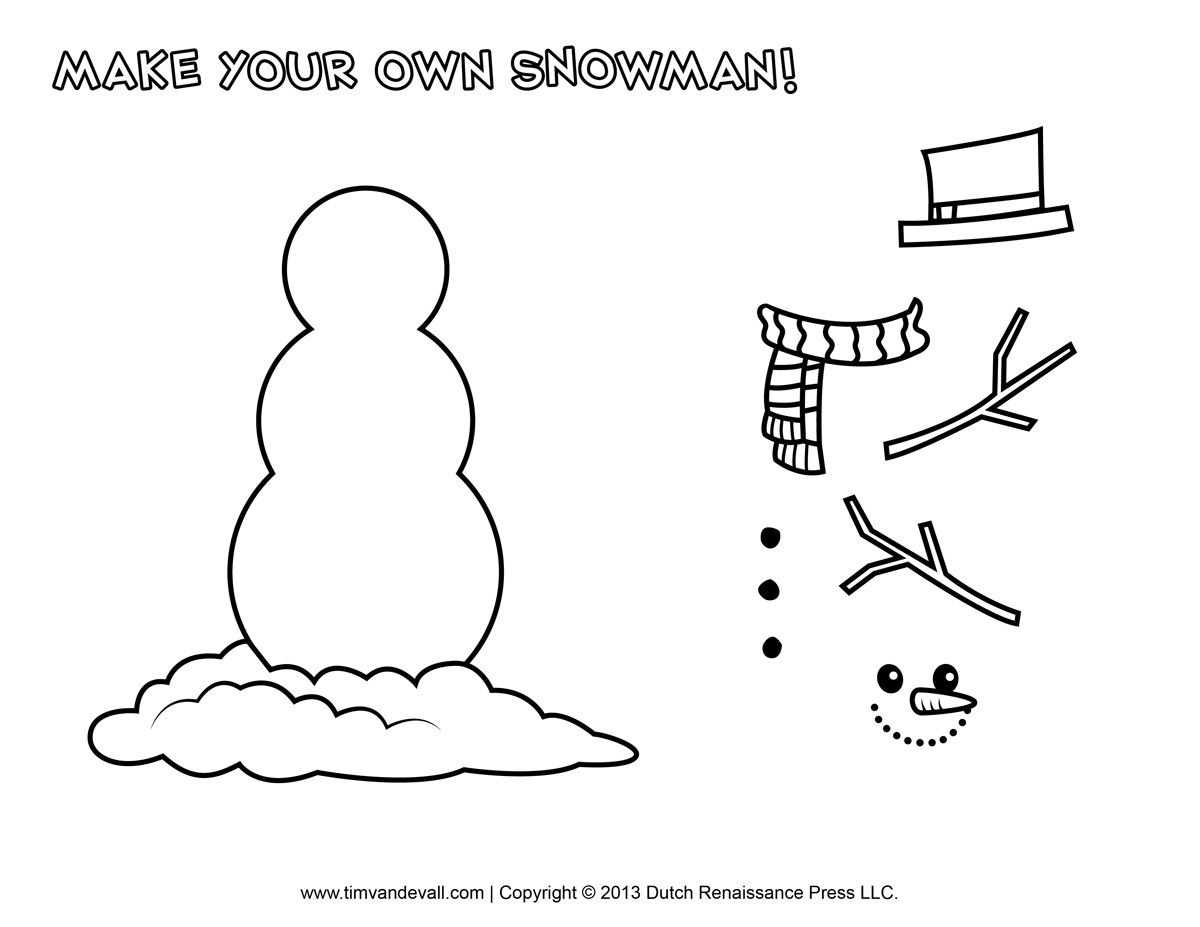 Snowman Clip Art Coloring Pages Printable Snowman Faces Snowman