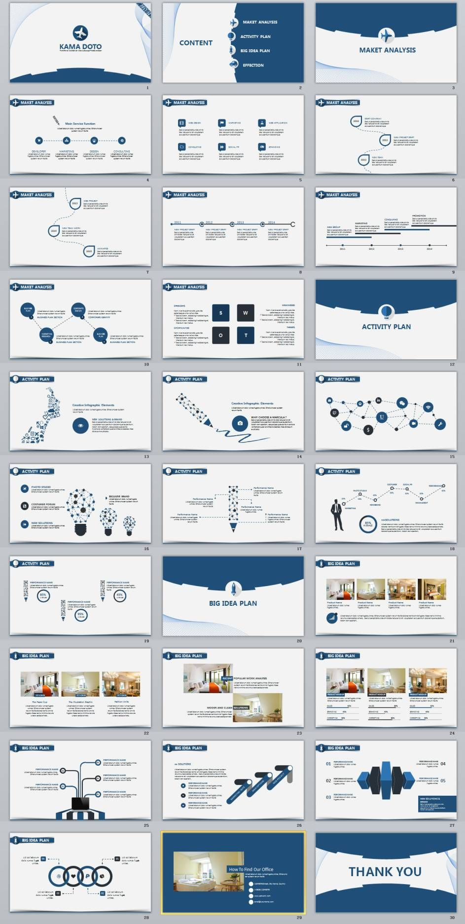 30+ blue clean charts report powerpoint template | create, Modern powerpoint