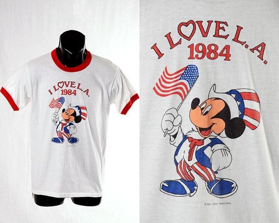 Vintage 80s Mickey Mouse Graphic Uncle Sam T by CkshopperVintage, $39.00