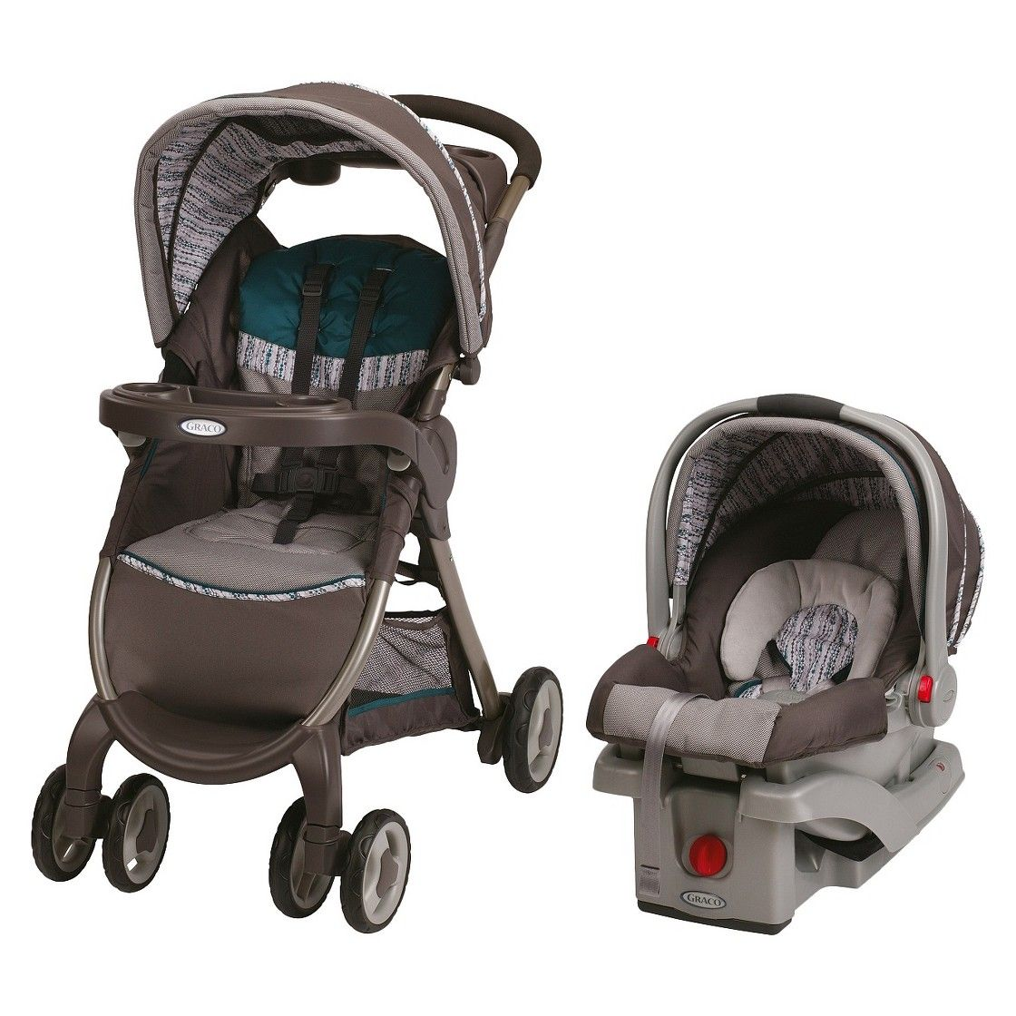 Graco FastAction Fold Click Connect Travel System Travel
