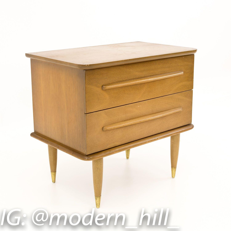 United Furniture Mid Century Nightstand Vintage Bedroom