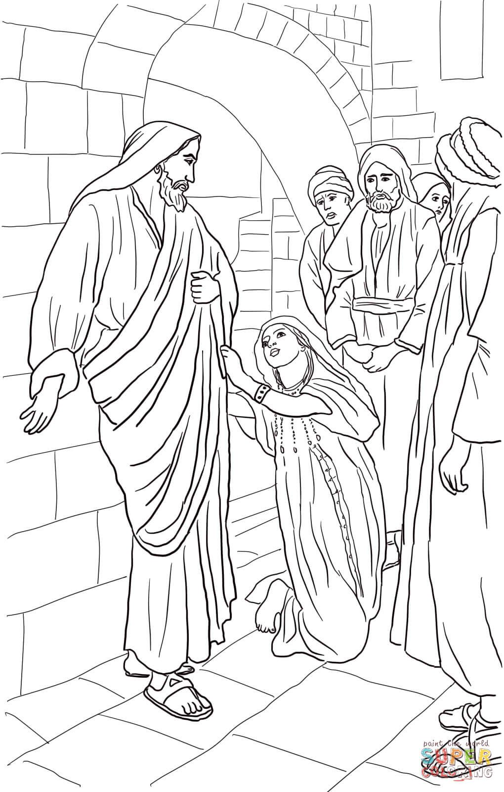 jesus heals canaanite woman u0027s daughter super coloring sunday