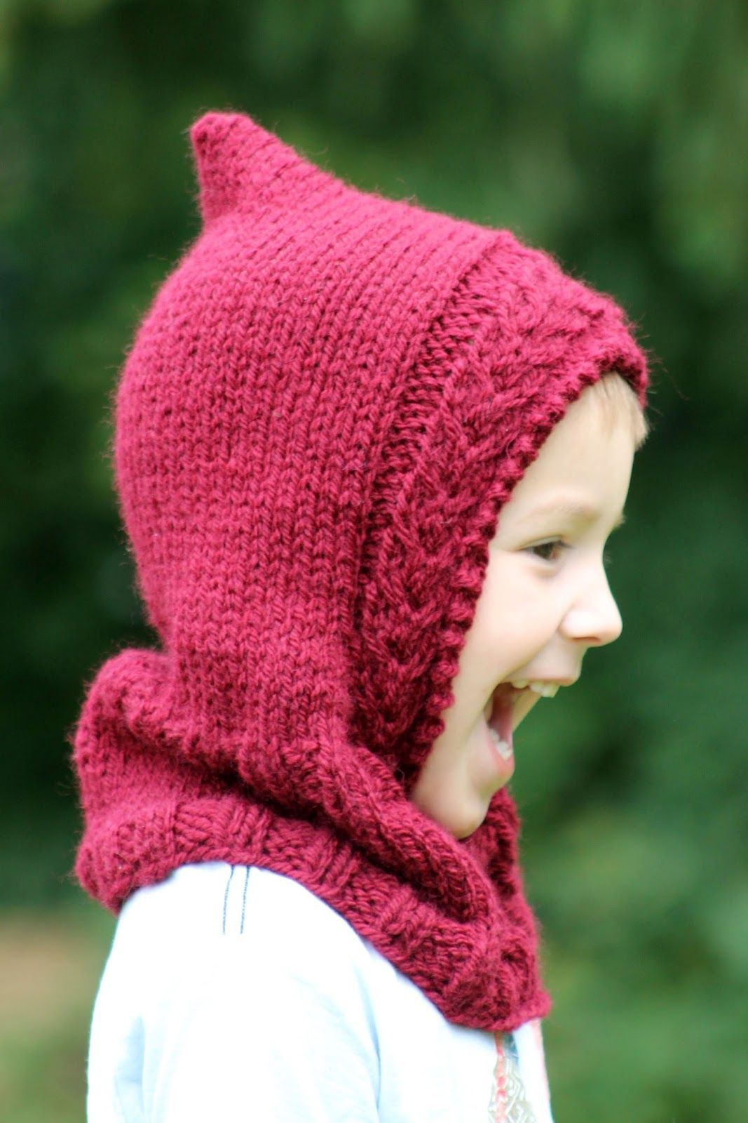 Little Red Hooded Cowl | Pinterest | Hooded cowl, Knitting patterns ...