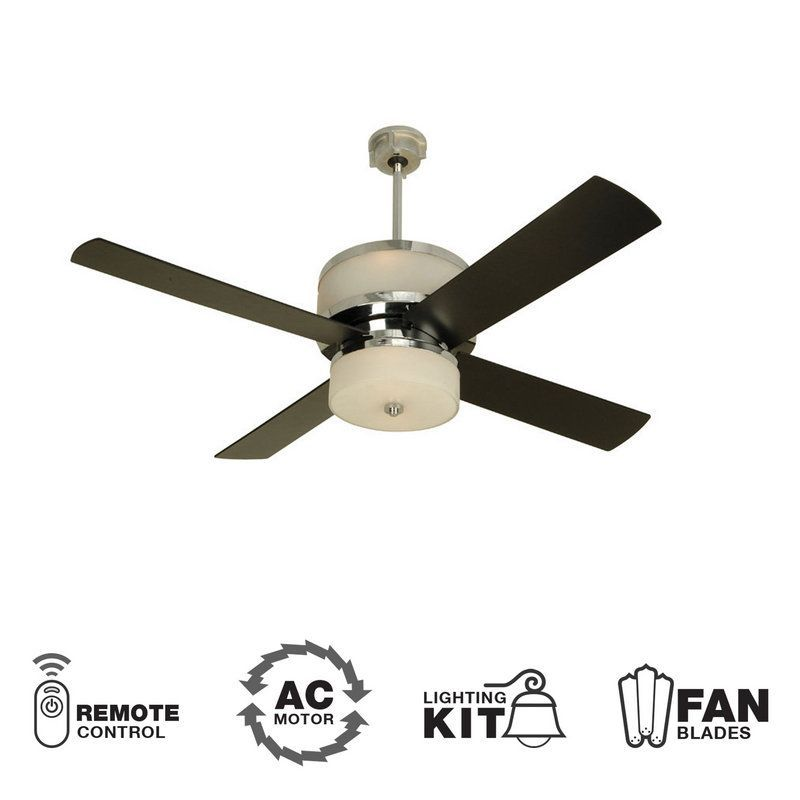 View The Craftmade Midoro Four Blade 56 Modern Ceiling Fan With Integrated Uplight Downlight Remote Control And B Ceiling Fan Ceiling Fan Blades Fan Blades